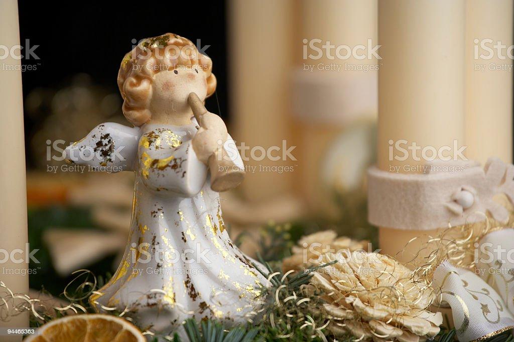 angel on advent wreath royalty-free stock photo