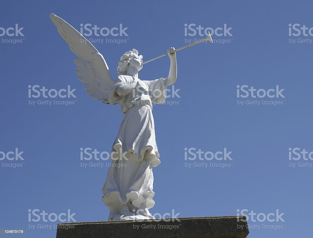 Angel Playing Horn royalty-free stock photo