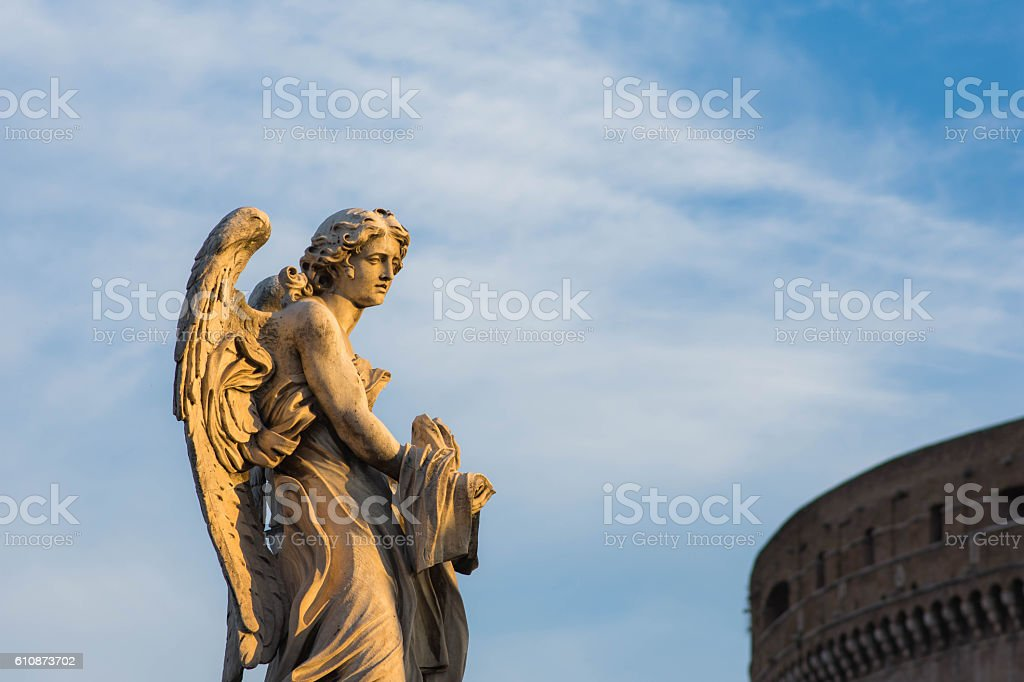 Angel, Ponte Sant'Angelo, Rome, Italy stock photo