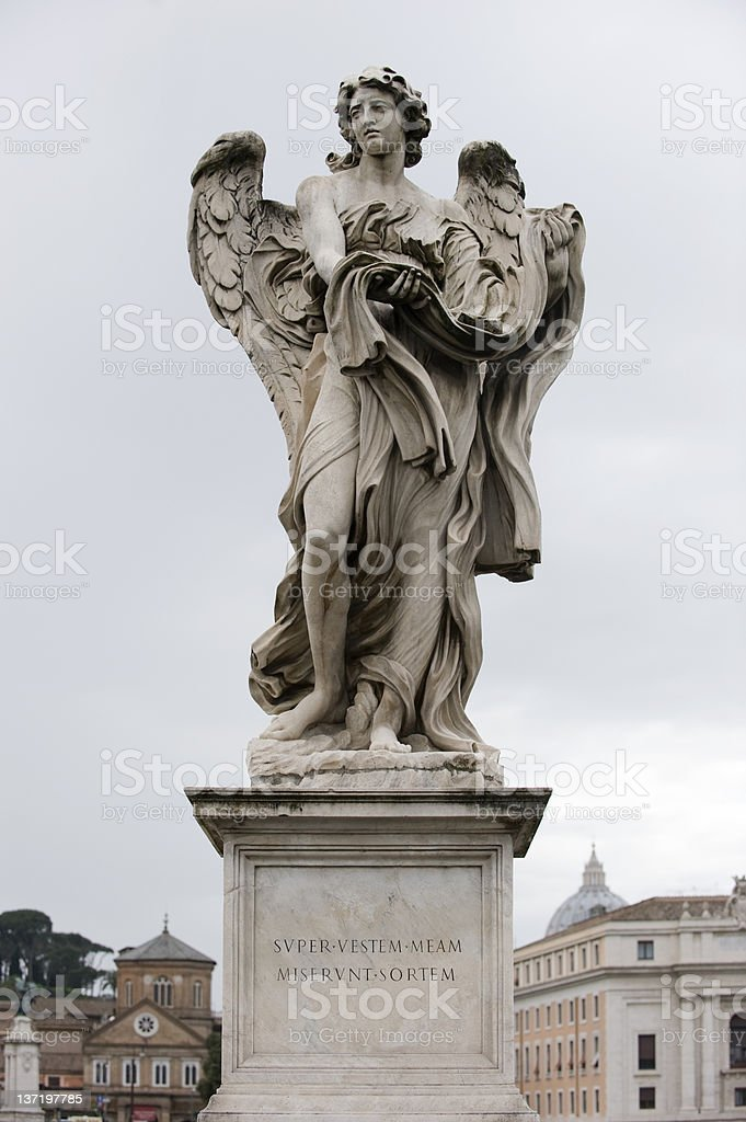 Angel, Ponte st. Angelo, Rome stock photo