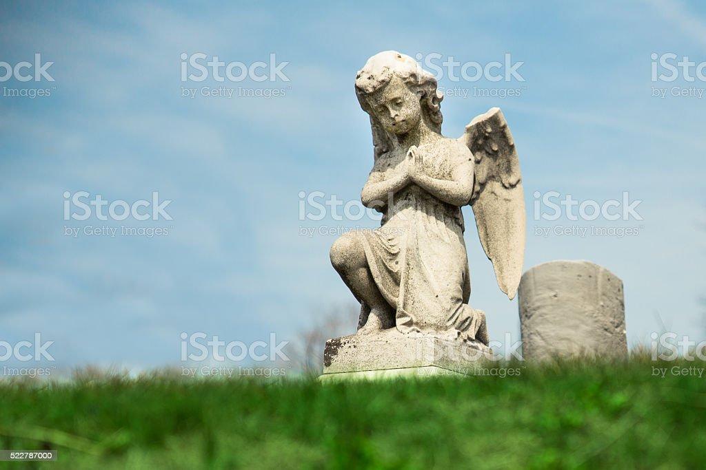 Angel Praying stock photo