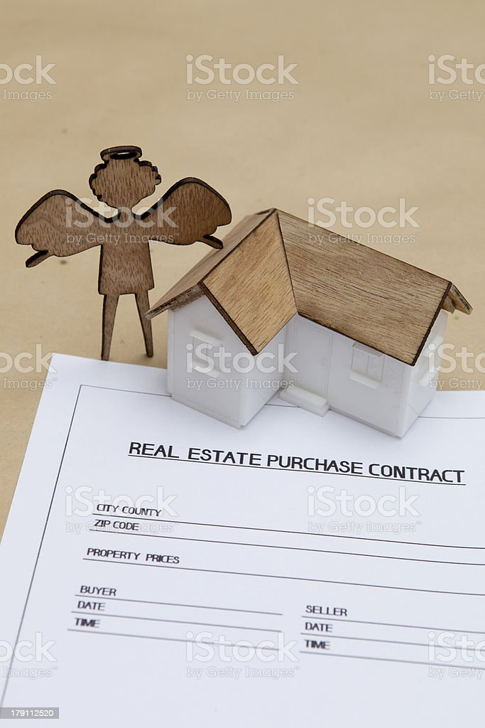 angel real estate purchase contract royalty-free stock photo