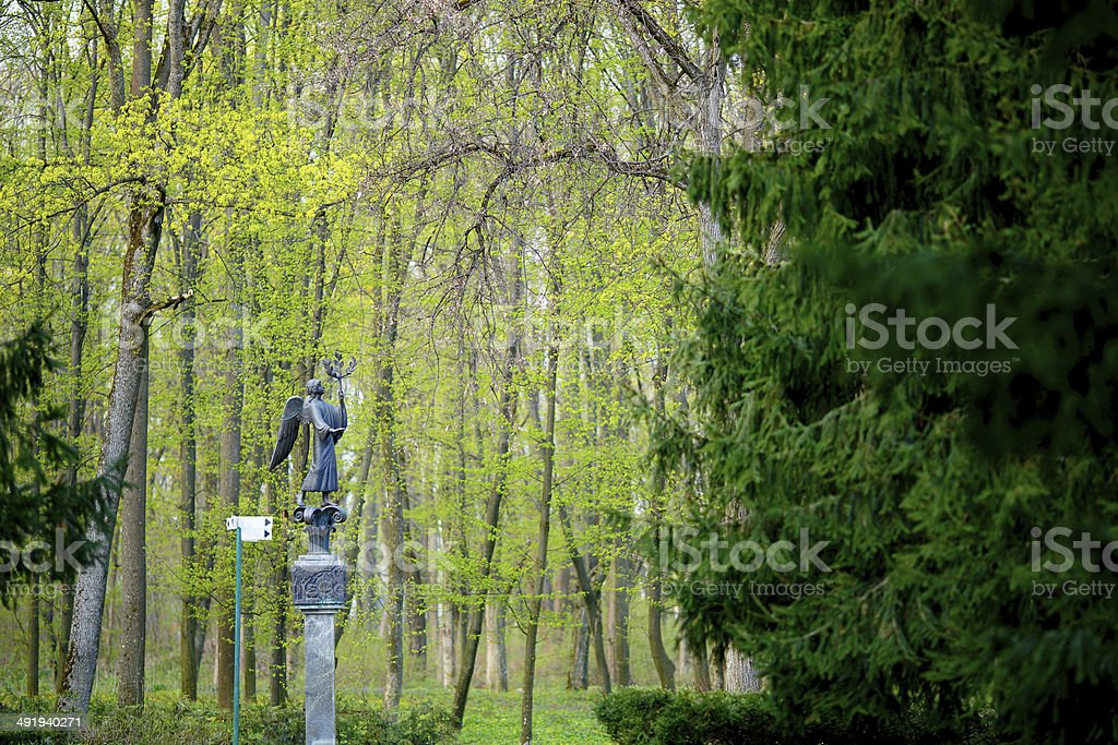 Angel Sculpture in the park royalty-free stock photo