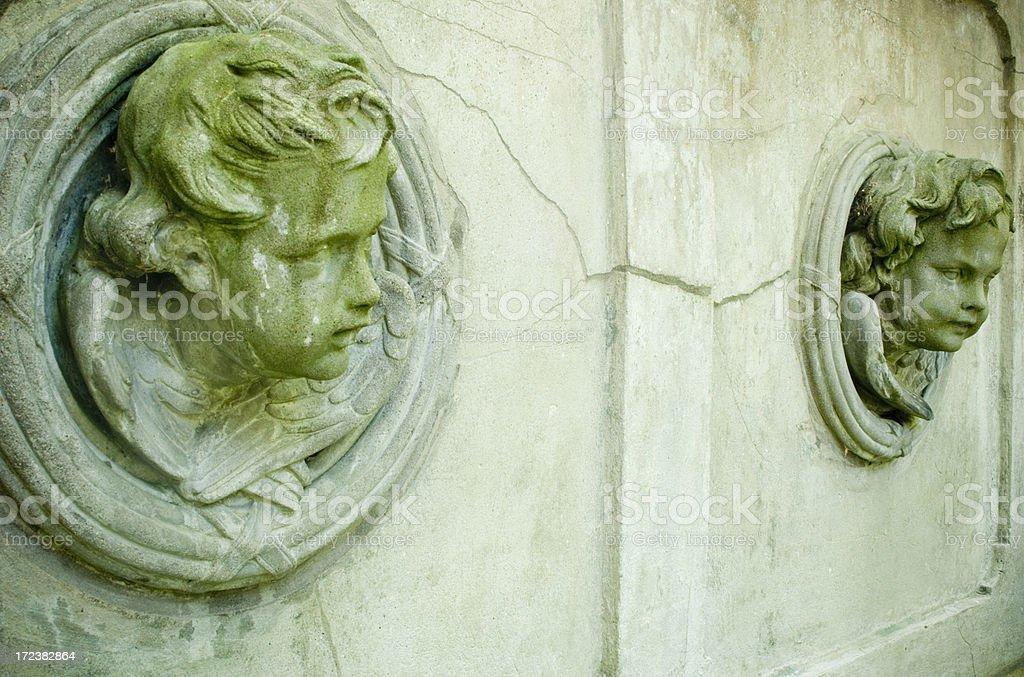 Angel sculpture stock photo