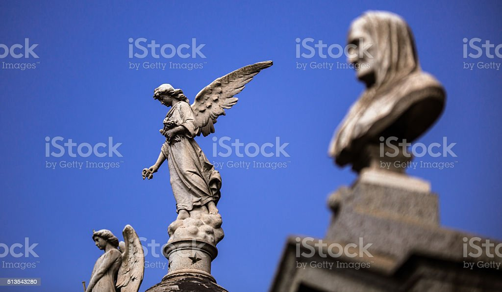 Angel statue Buenos Aires stock photo