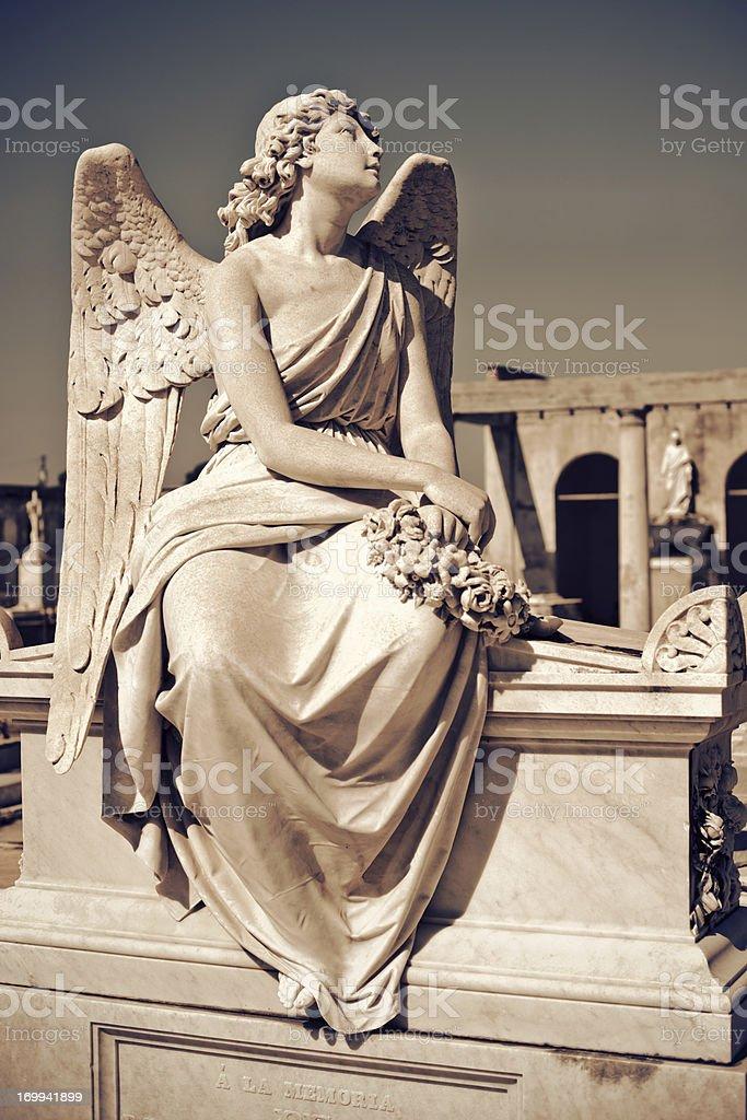 Angel statue, Cuba stock photo