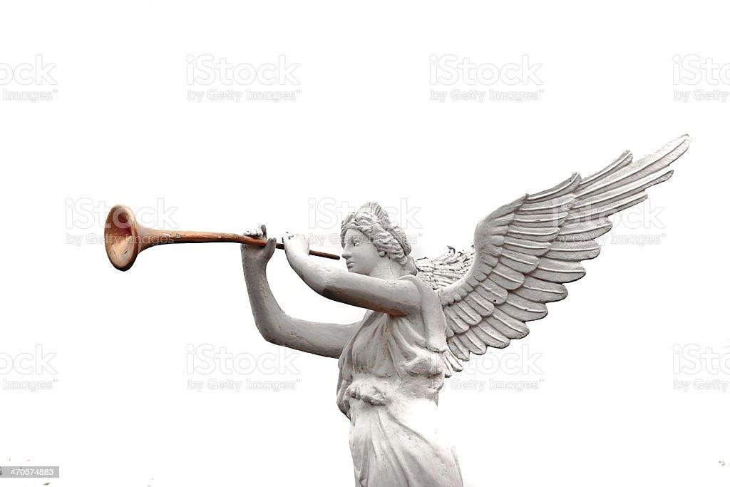 angel statue detail stock photo