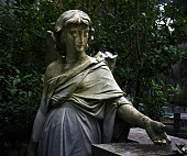 Angel Statue in Bonaventure Cemetery in Savannah, Georgia