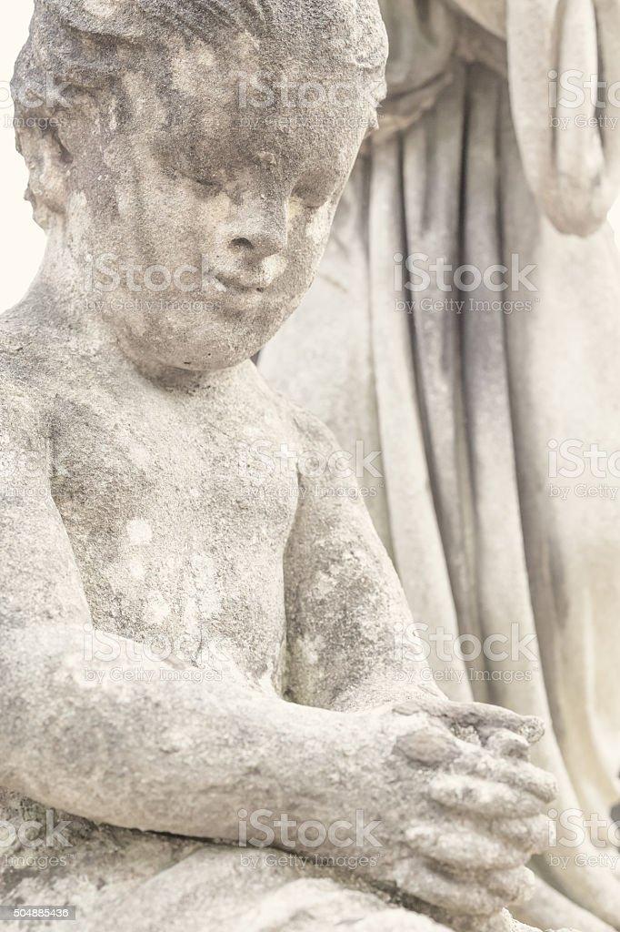 Angel la statue de cimetière Lychakiv, Lviv, Ukraine photo libre de droits