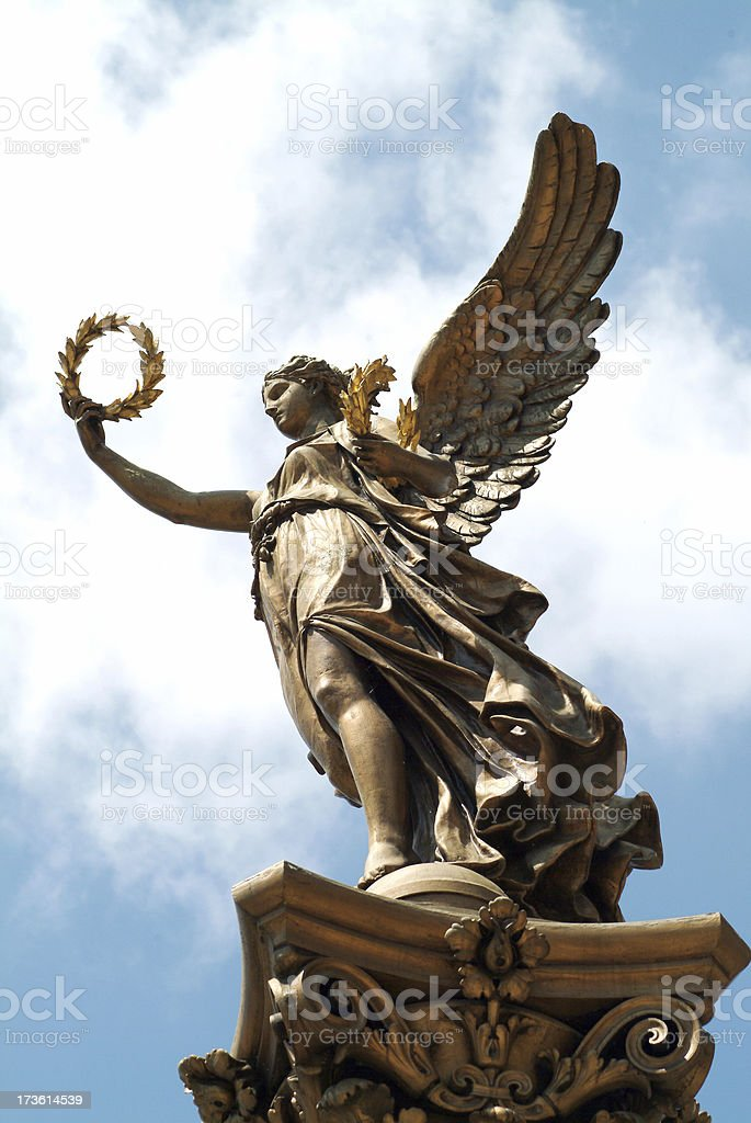 Angel statue in Prague stock photo