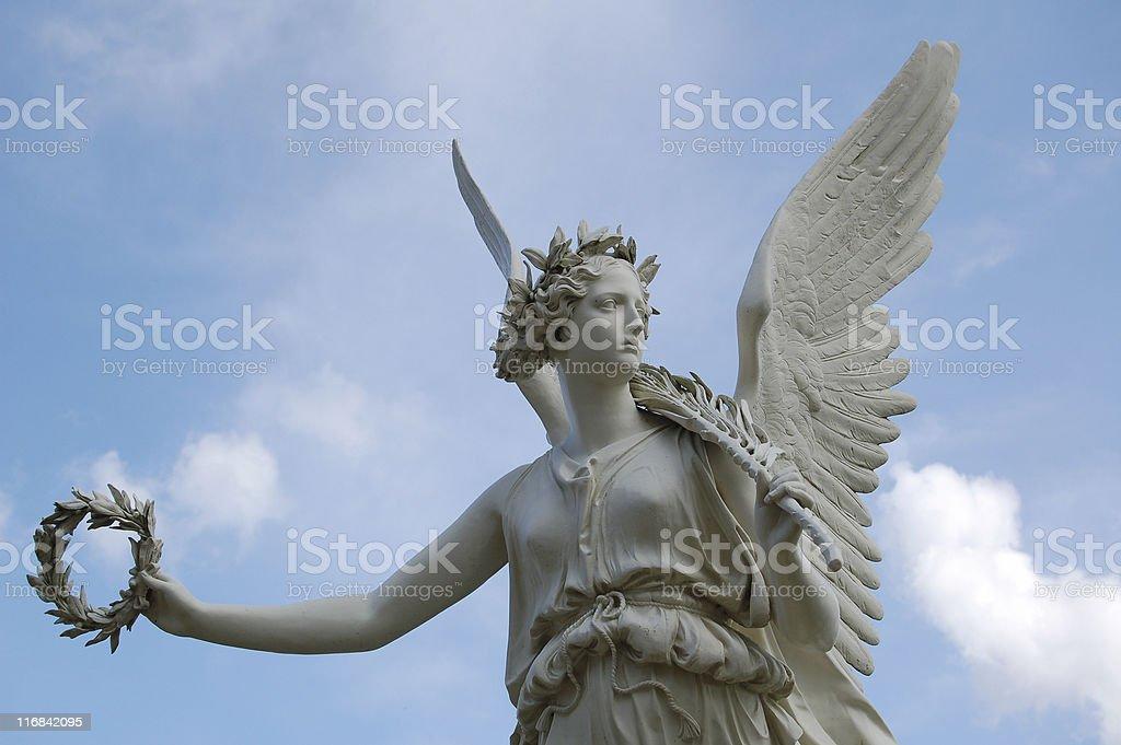 Angel statue of schwerin castle stock photo