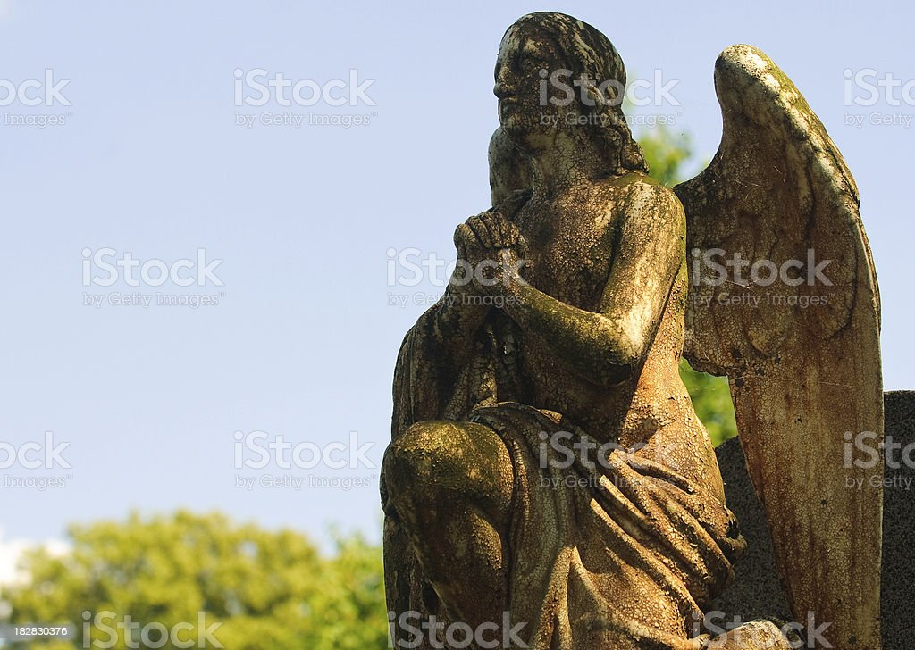 Angel Statue on Cemetary royalty-free stock photo