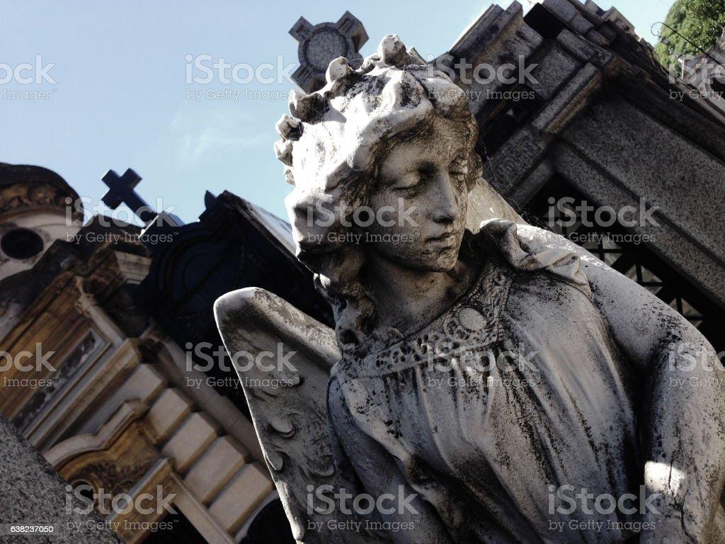 Angel Statue on Cemetery stock photo