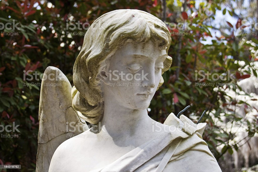 Angel Statue With Broken Wing stock photo