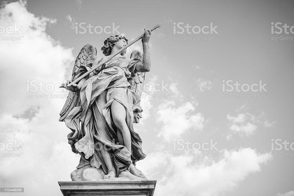 Angel Statues at Castel Sant'Angelo bridge royalty-free stock photo