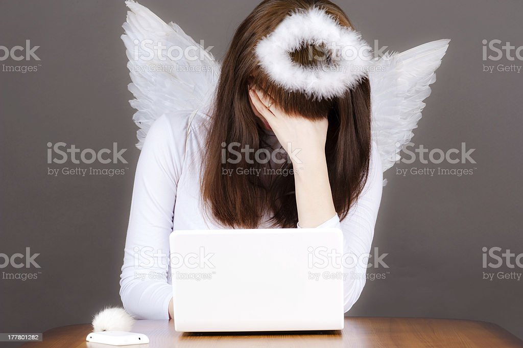 angel tired royalty-free stock photo