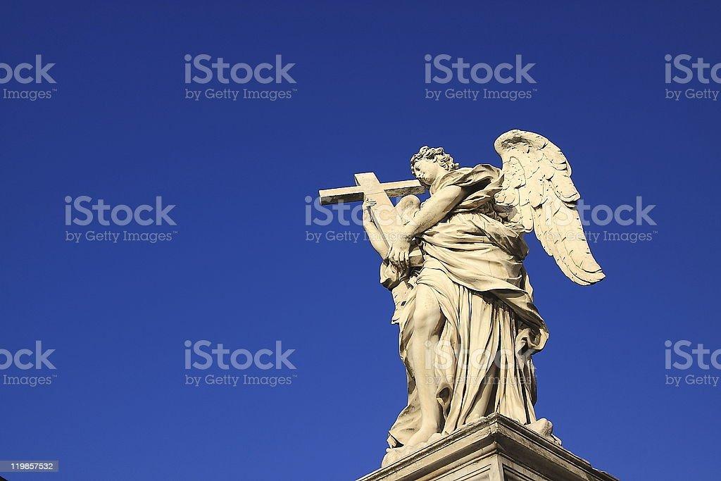 Angel under a blue sky copyspace royalty-free stock photo
