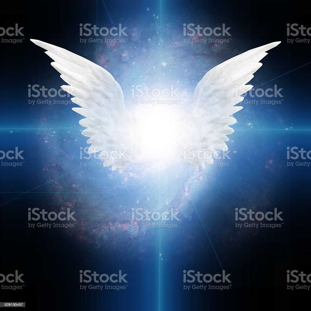 Angel winged stock photo