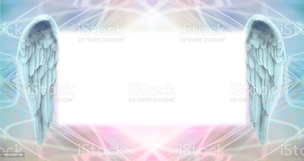 Angel Wings Message Board stock photo