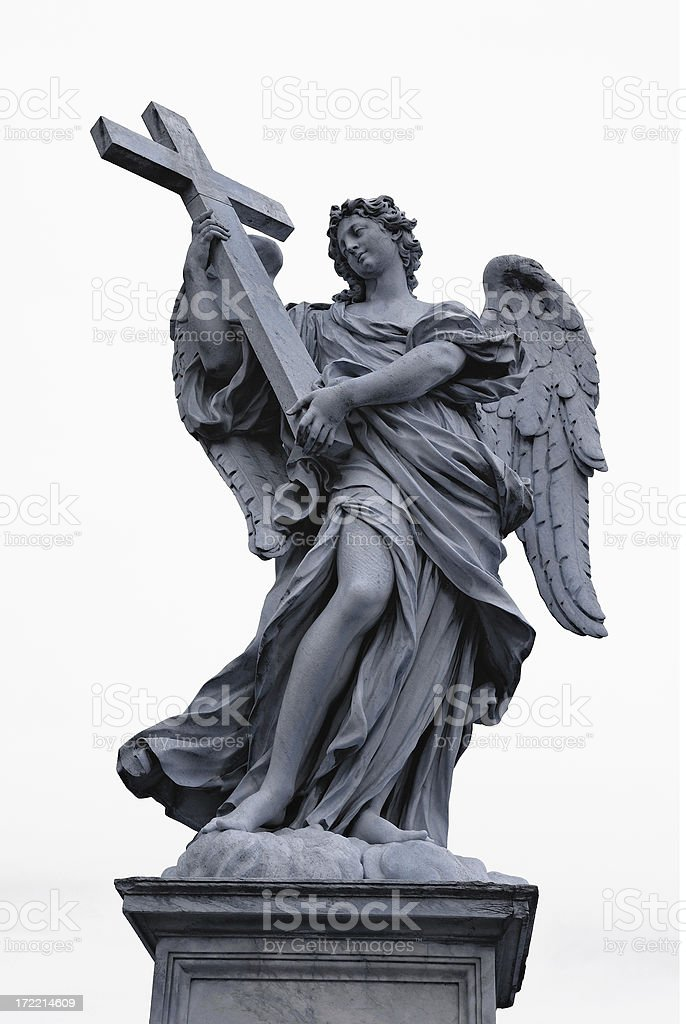 angel with a cross royalty-free stock photo