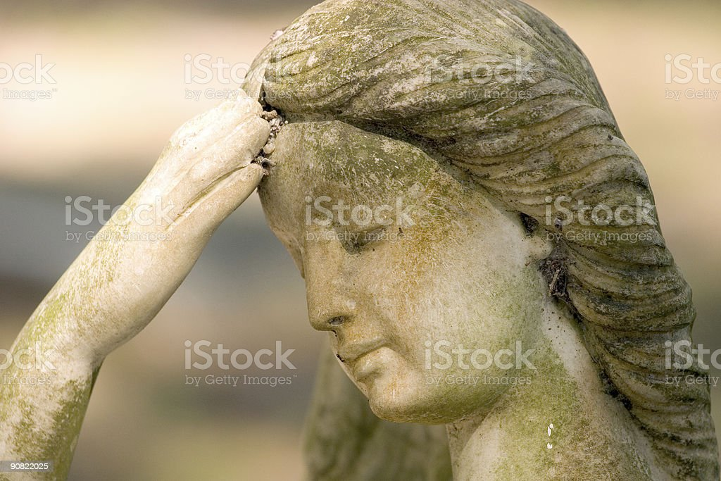 Angel with a Headache stock photo
