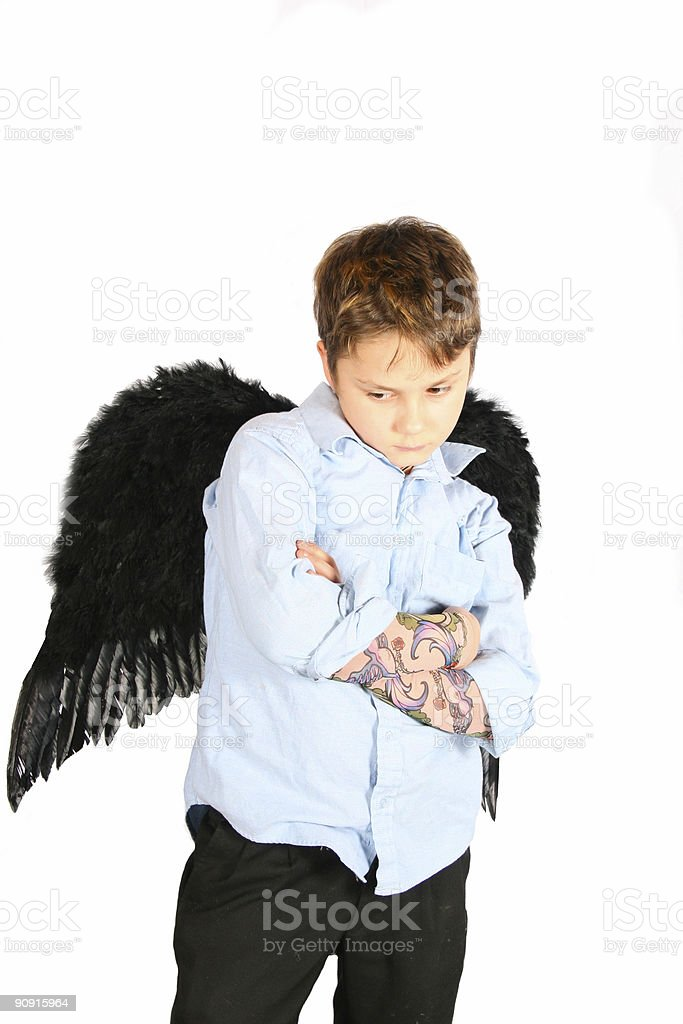 Angel with an attitude royalty-free stock photo
