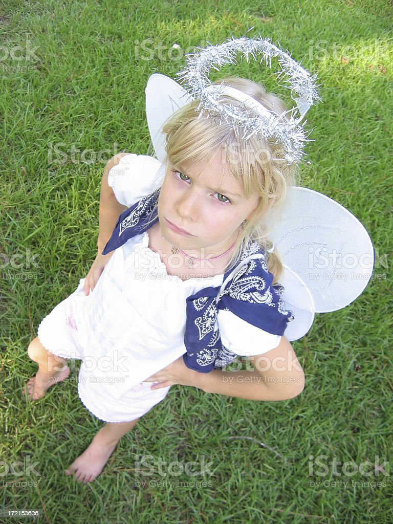 angel with bad attitude royalty-free stock photo