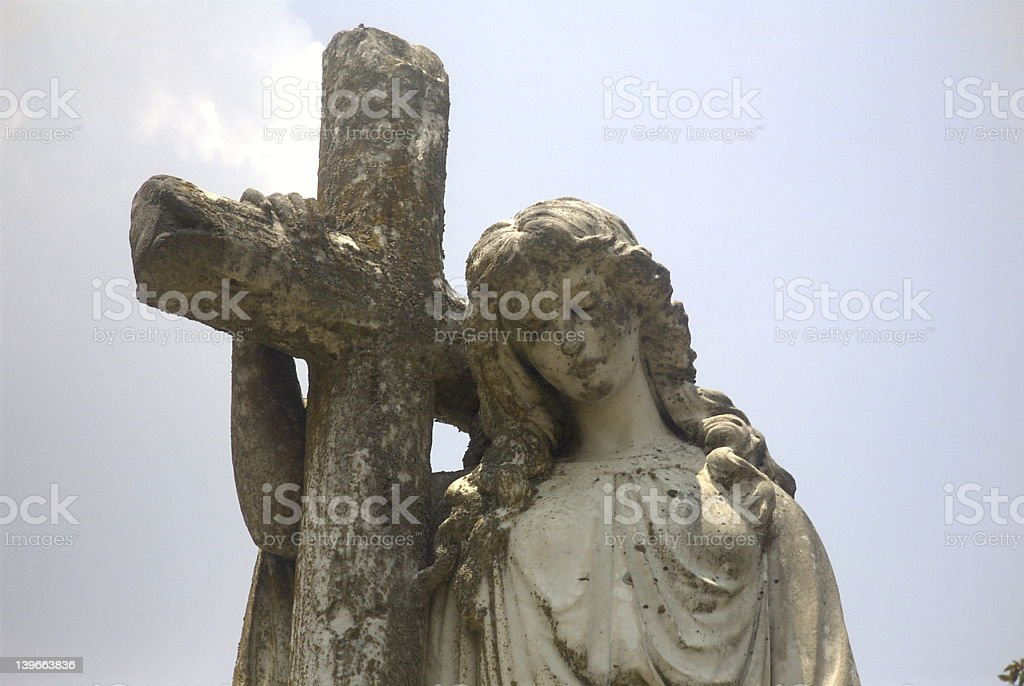 Angel with Cross royalty-free stock photo