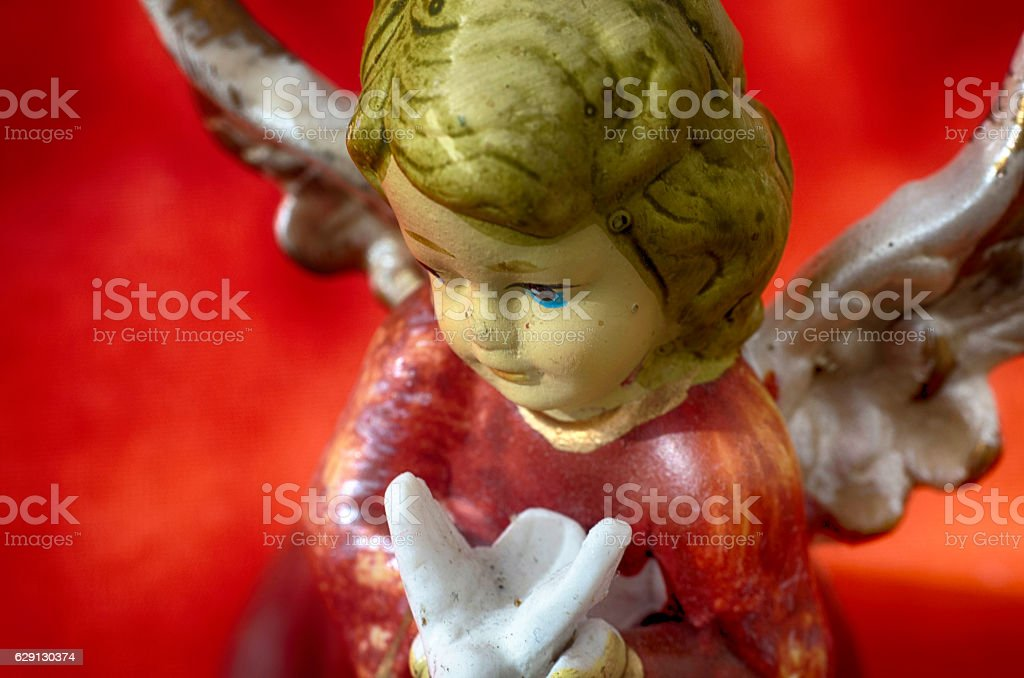 Angel with dove royalty-free stock photo