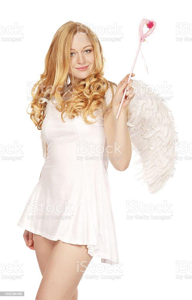 Angel With Magic Wand stock photo