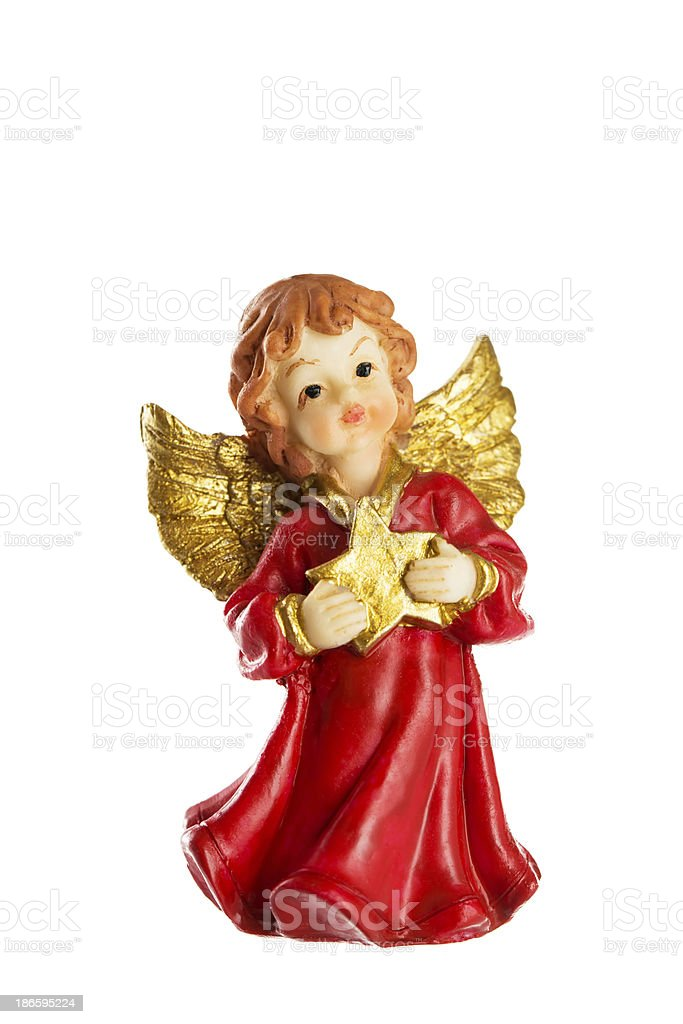 Angel with star royalty-free stock photo