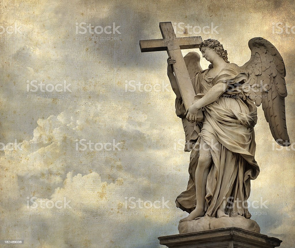 Angel with the Cross royalty-free stock photo