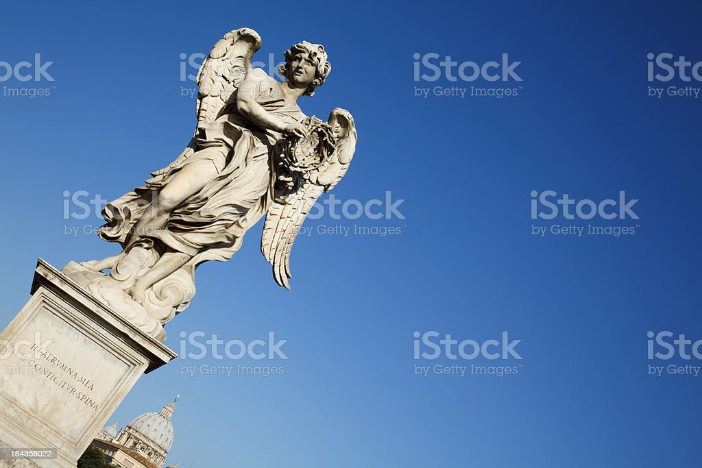 'Angel with the Crown of Thorns, Rome' stock photo