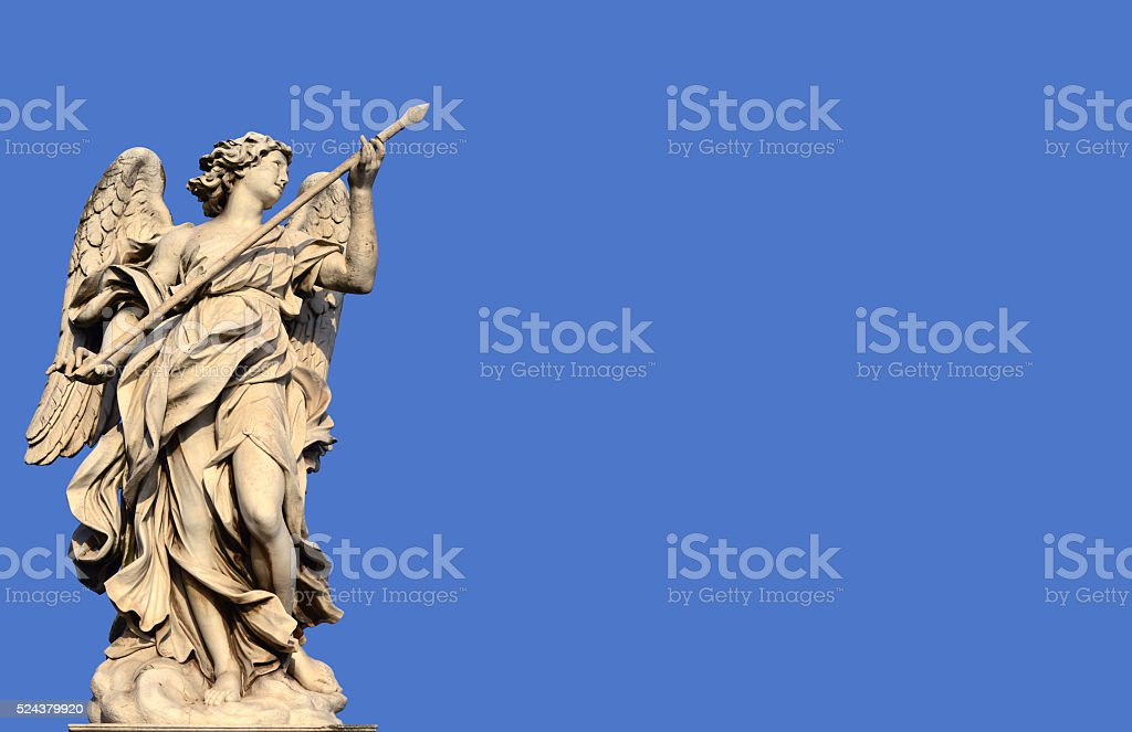 Angel with the Holy Lance of Longinus stock photo