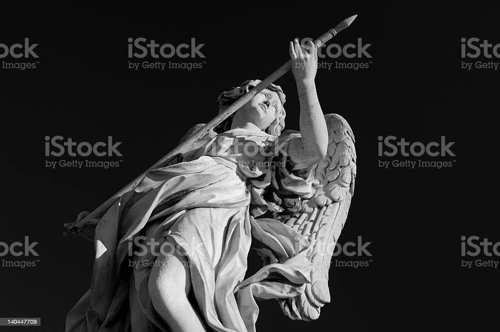 Angel with the lance royalty-free stock photo