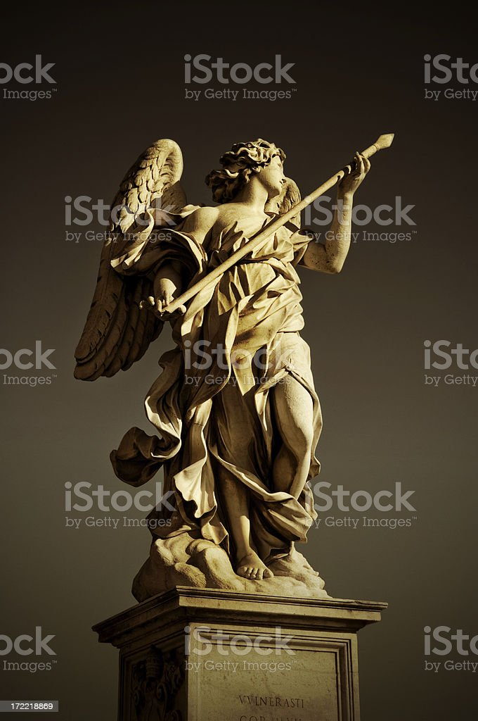 angel with the lance stock photo