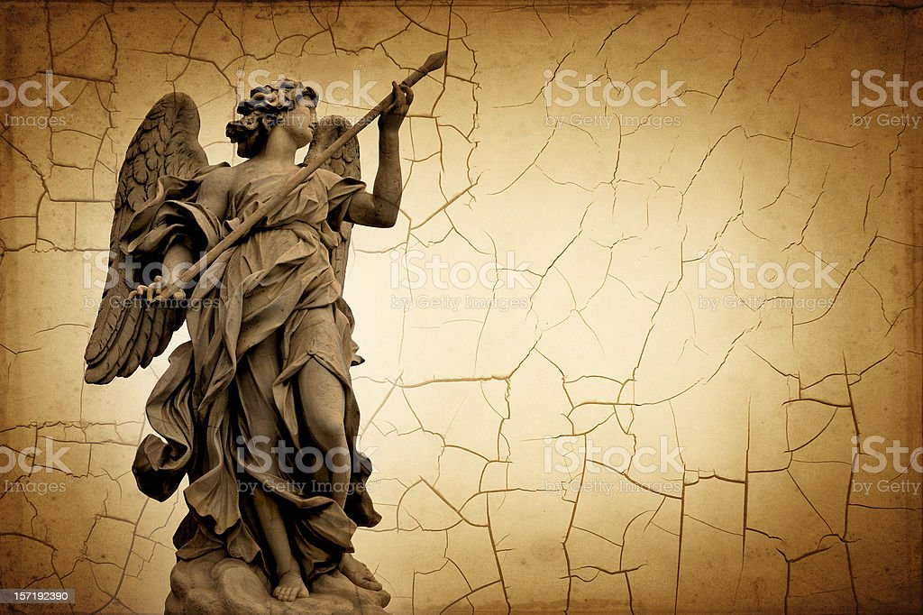 angel with the spear royalty-free stock photo