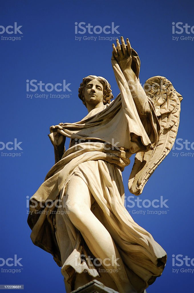 Angel with the Sudarium stock photo