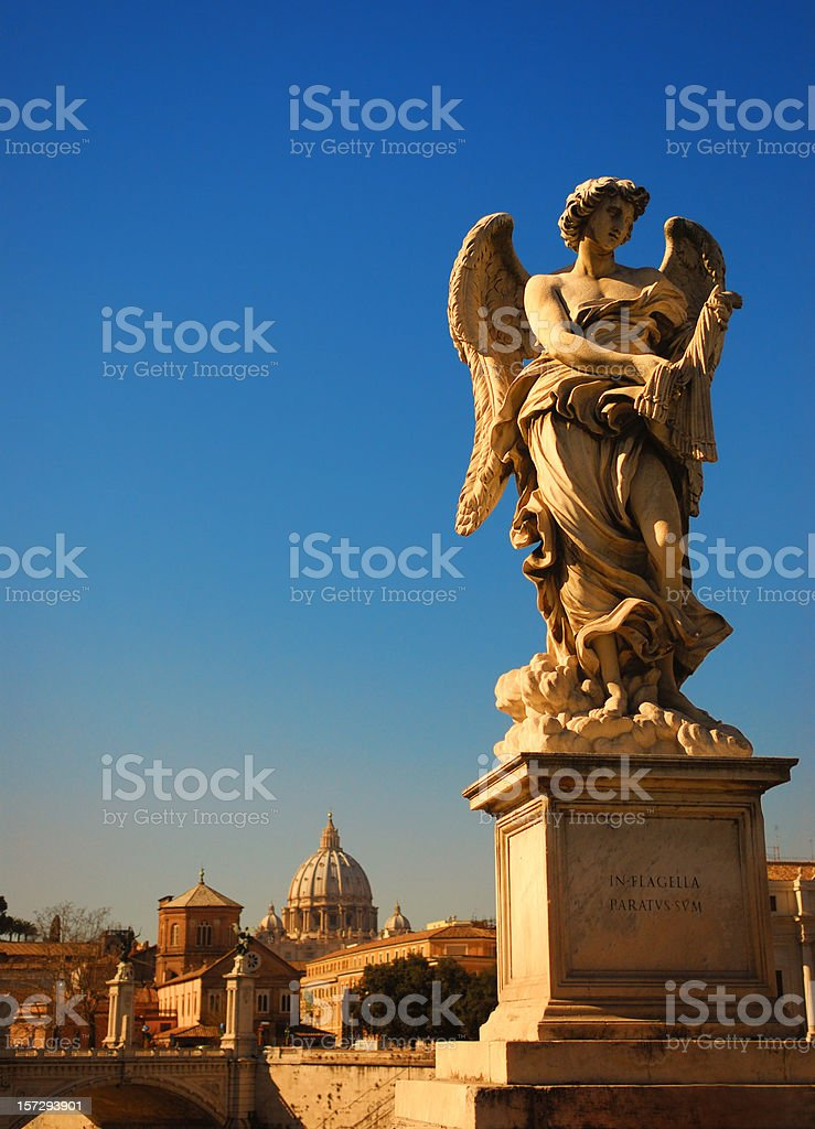 Angel with the Whips royalty-free stock photo