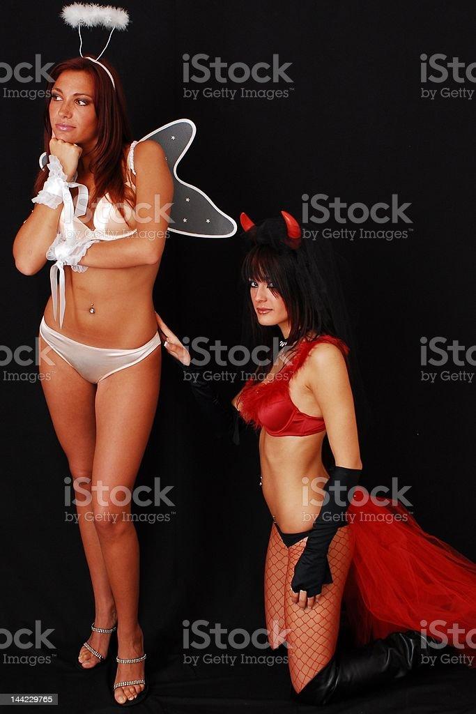Angel&Demon.10 royalty-free stock photo
