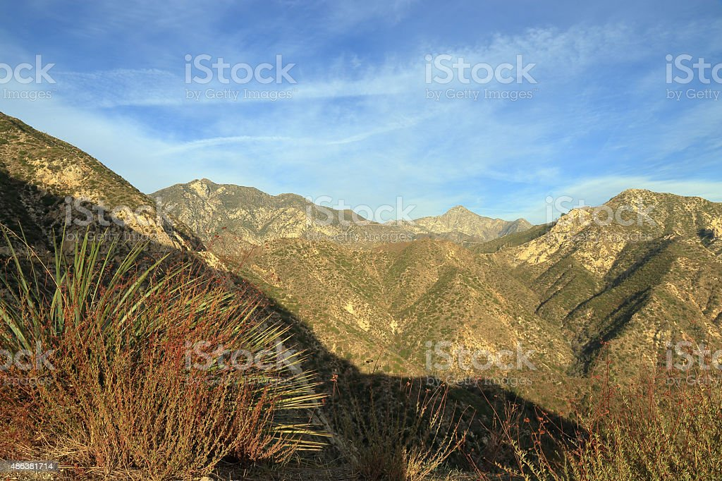 Angeles national forest stock photo