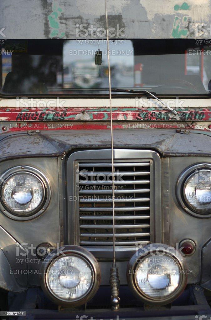 angeles sapangbato passenger jeepney philippines royalty-free stock photo
