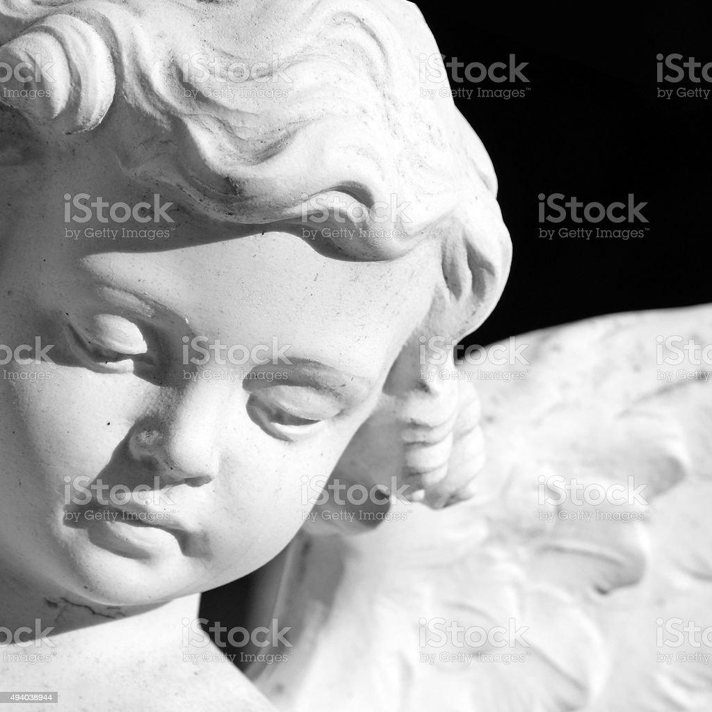 angelic face stock photo