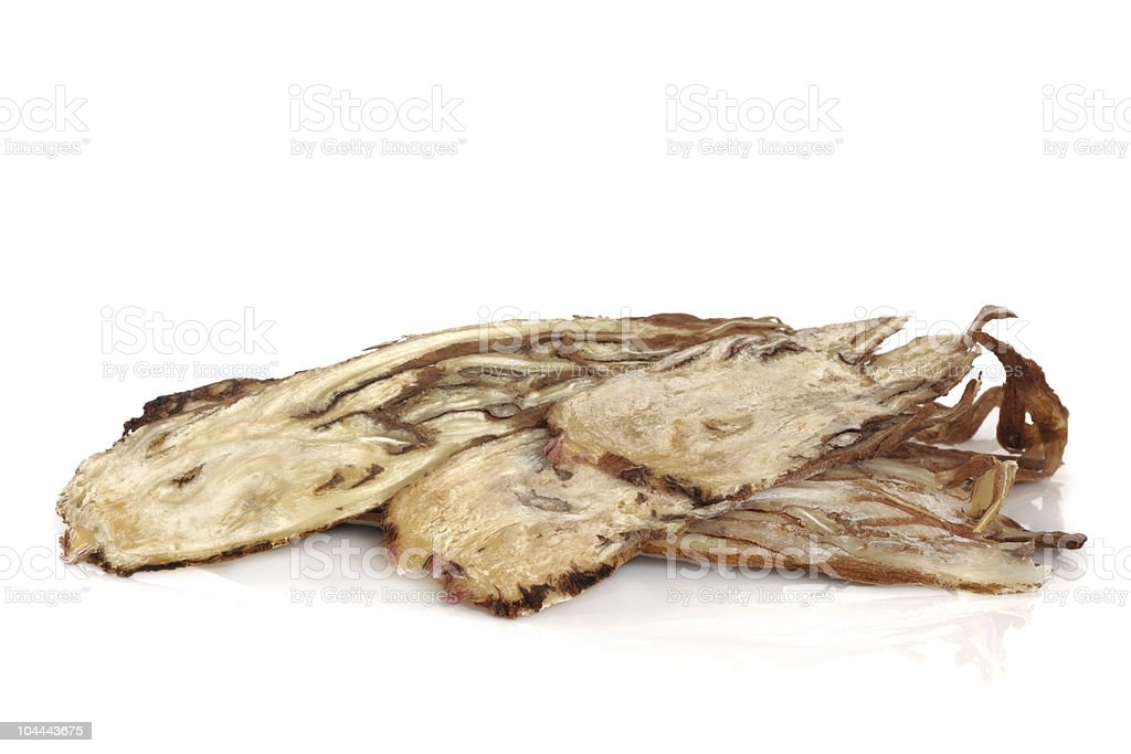 Angelica Herb Root stock photo