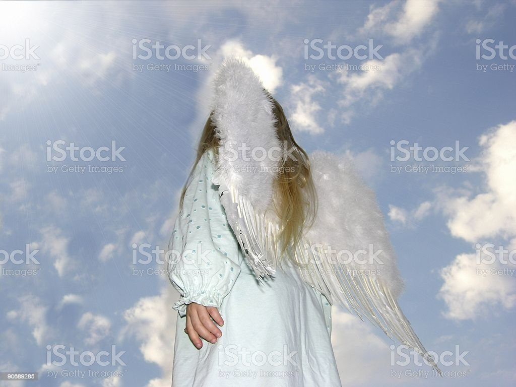 Angel,Light and Rays royalty-free stock photo