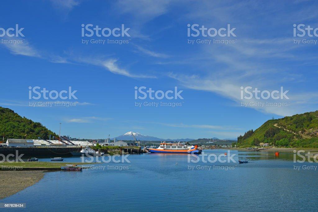 Angelmo Harbor stock photo