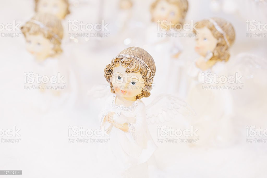 Angels And Pigeon royalty-free stock photo
