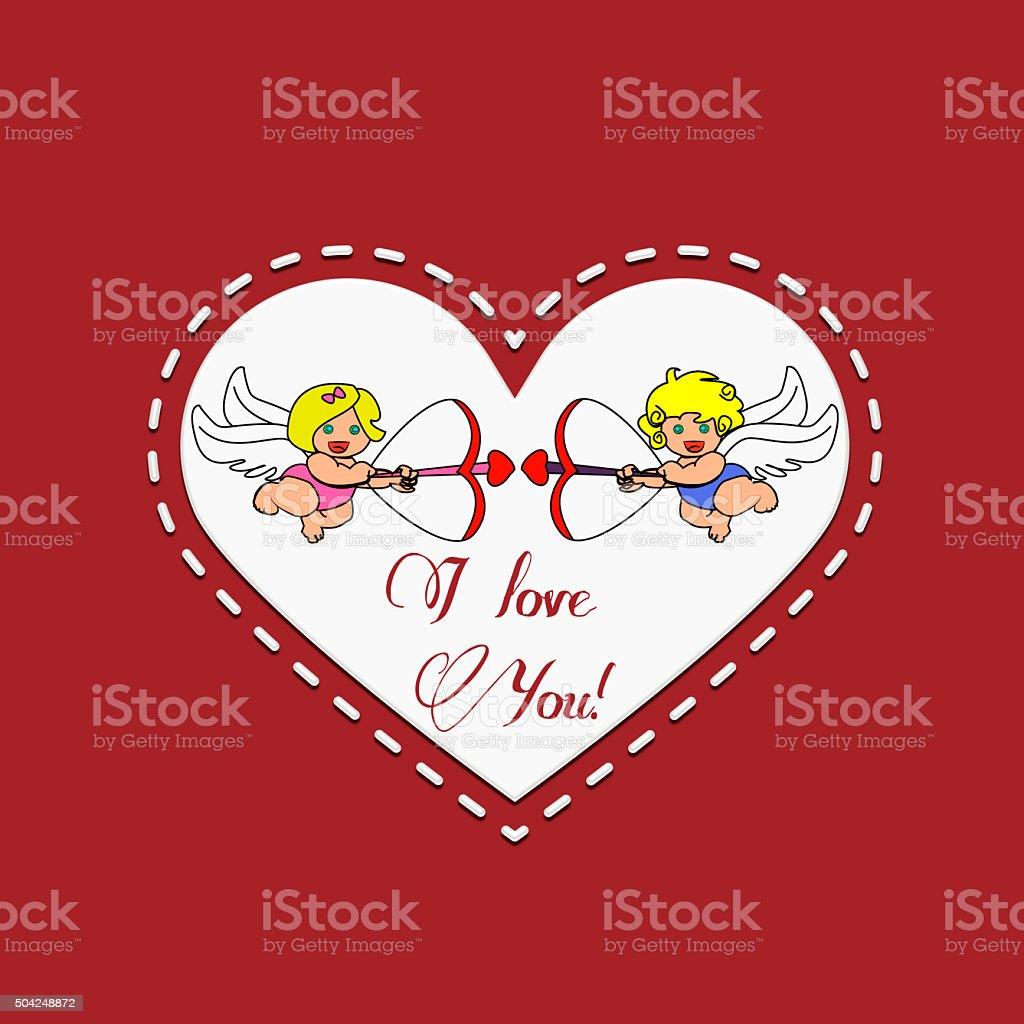 Angels Cupids stock photo