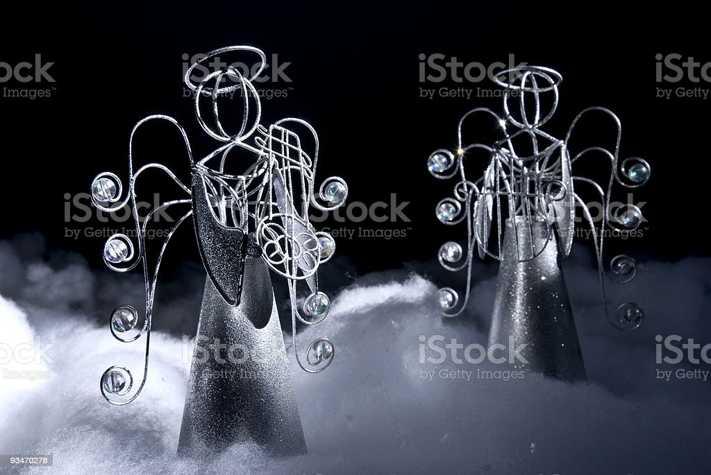 Angels glimmer in Darkness royalty-free stock photo