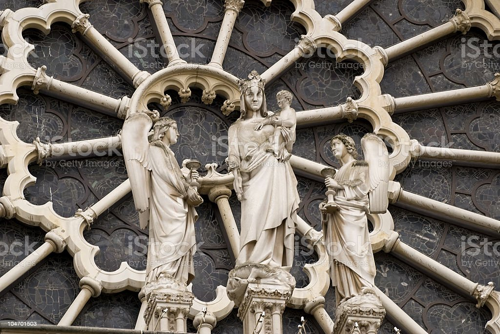 angels in Notre Dame stock photo